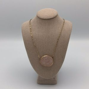 Francesca's Light Pink Stone Necklace